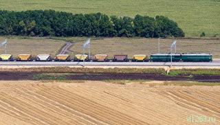 Железнодорожный участок Журавка - Миллерово в обход Украины. Архивное фото