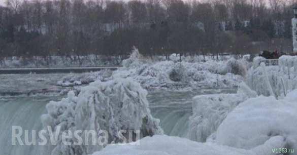 Застывшая мощь: замерз Ниагарский водопад (ФОТО, ВИДЕО) | Русская весна